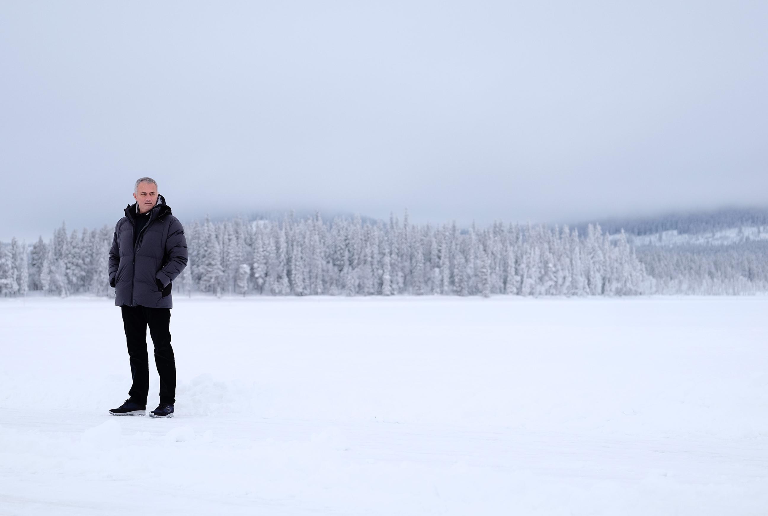 José Mourinho in Sweden for Jaguar