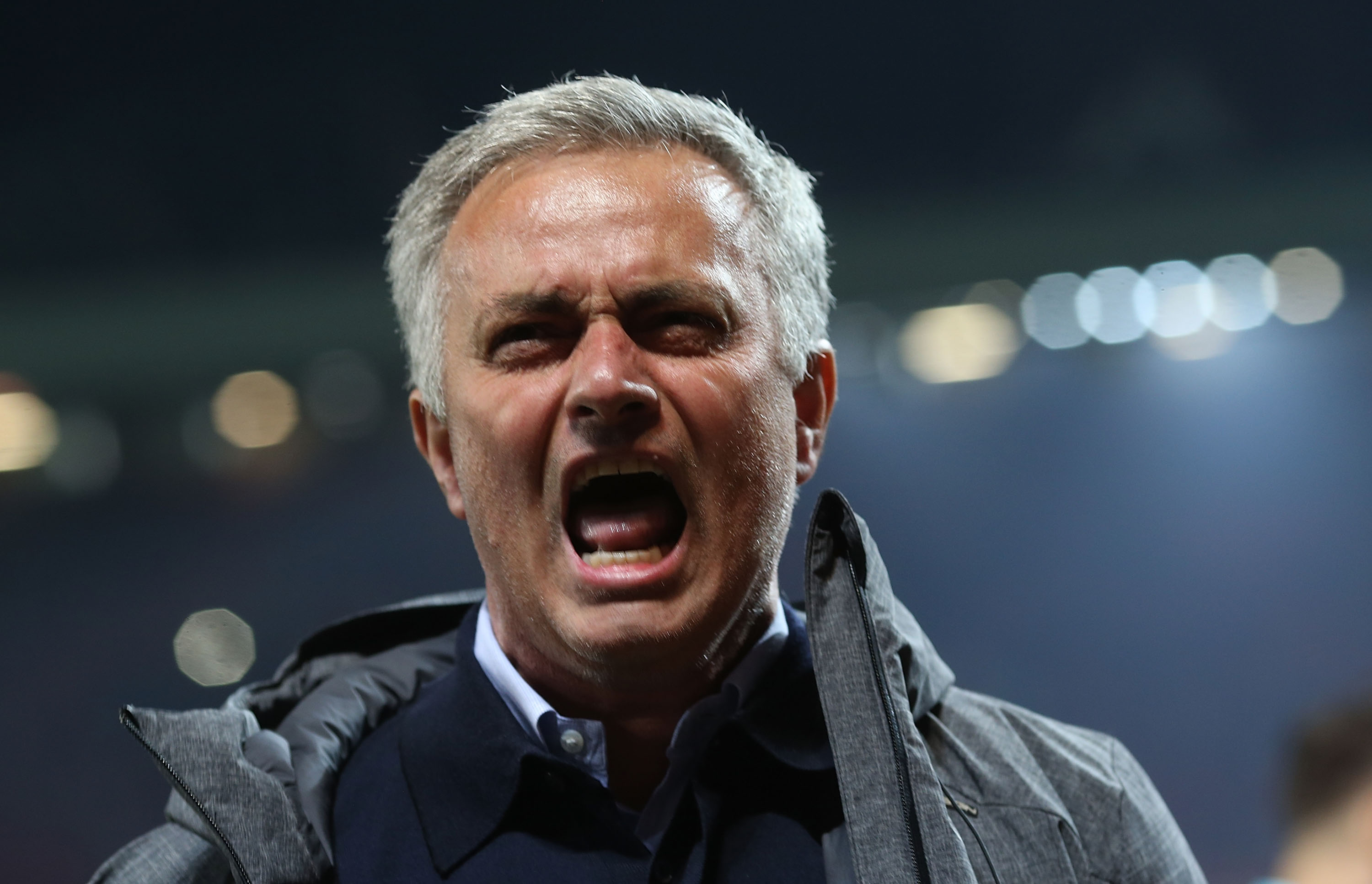 MANCHESTER, ENGLAND - MAY 11:  Manager Jose Mourinho of Manchester United celebrates after the UEFA Europa League, semi final second leg match, between Manchester United and Celta Vigo at Old Trafford on May 11, 2017 in Manchester, United Kingdom.  (Photo by John Peters/Man Utd via Getty Images)