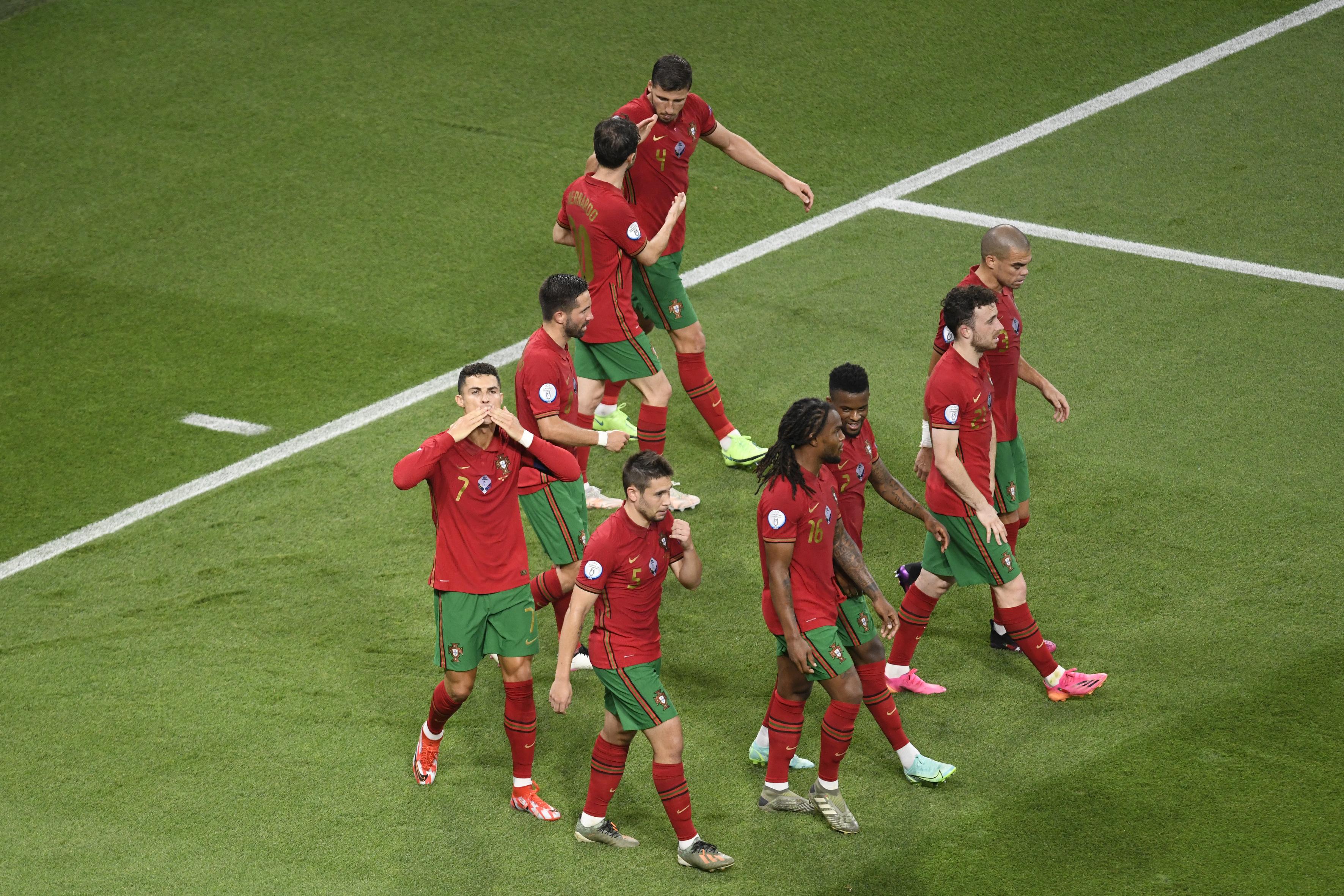 Euro 2020 Portugal vs França Puskás Arena  Foto Gestifute Media/Jorge Monteiro